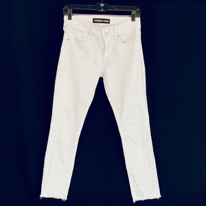 Express White Cropped Legging Midrise Jeans 4R